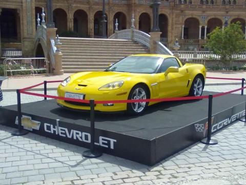 tarima para exposición de coches